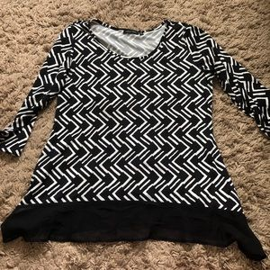 Black and white notations top